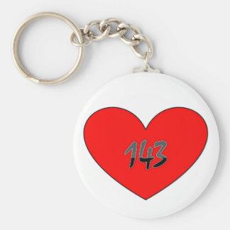 143 Means I Love You Keychain