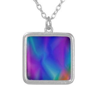 143Gradient Pattern_rasterized Silver Plated Necklace