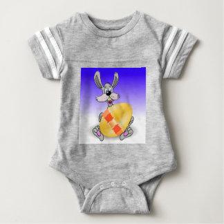 144Grey Rabbit_rasterized Baby Bodysuit