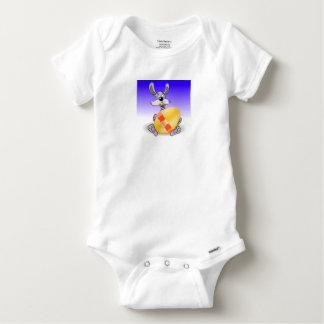 144Grey Rabbit_rasterized Baby Onesie
