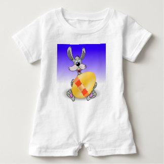 144Grey Rabbit_rasterized Baby Romper