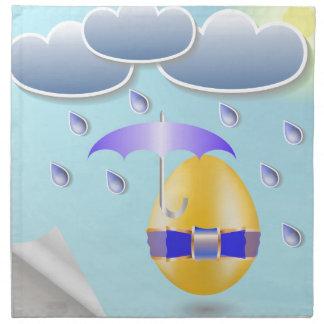 146Easter Egg_rasterized Napkin