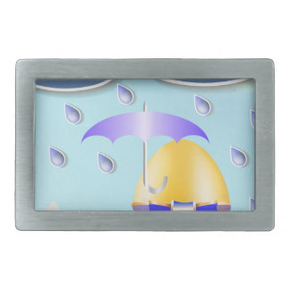 146Easter Egg_rasterized Rectangular Belt Buckles