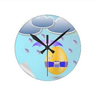 146Easter Egg_rasterized Round Clock