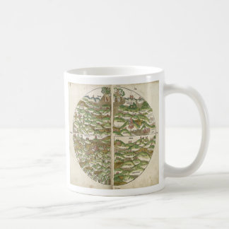 1475 Oldest Known Woodcut World Map Coffee Mugs