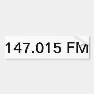 147.015 FM Bumper Sticker