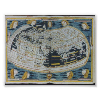 1482 Ancient World Map Poster