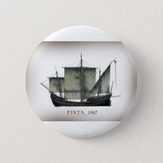 1492 Pinta tony fernandes 2 Inch Round Button