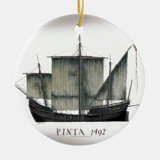 1492 Pinta tony fernandes Ceramic Ornament