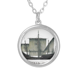 1492 Pinta tony fernandes Silver Plated Necklace