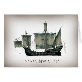 1492 Santa Maria by Tony Fernandes Card