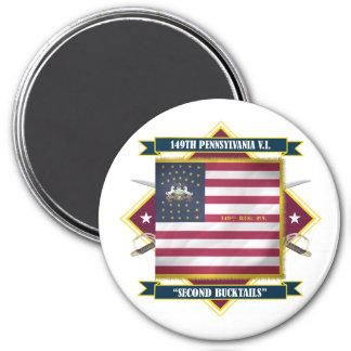 149th Pennsylvania V.I. 3 Inch Round Magnet