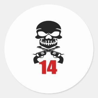 14 Birthday Designs Classic Round Sticker