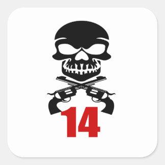 14 Birthday Designs Square Sticker