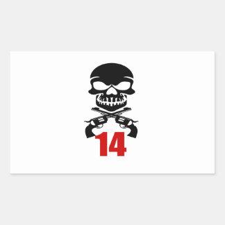 14 Birthday Designs Sticker