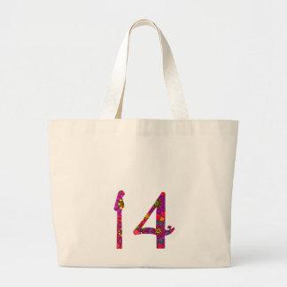 14< Dahlia > Large Tote Bag