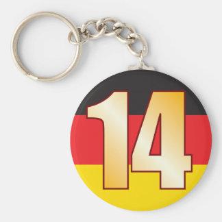 14 GERMANY Gold Keychain