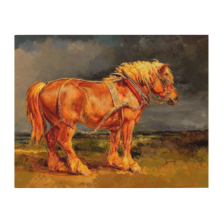 "14""x11"" Horse painting Wood Wall Art Wood Canvases"