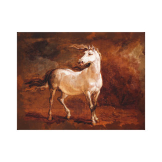 """14"""" x 11"""", 1.5"""",  Horse painting Canvas Print"""