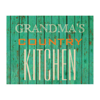 14 X 11 GRANDMA'S COUNTRY KITCHEN WOOD WALL ART