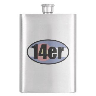 14er Flag Hip Flask