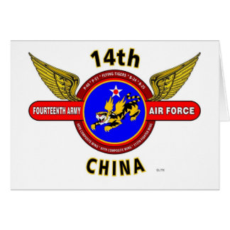 """14TH ARMY AIR FORCE """"ARMY AIR CORPS"""" WW II CARDS"""
