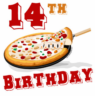 14th Birthday Pizza Party Photo Cutout