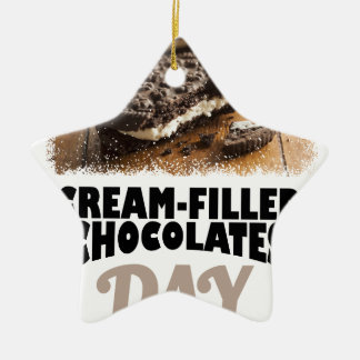 14th February - Cream-Filled Chocolates Day Ceramic Ornament