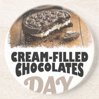 14th February - Cream-Filled Chocolates Day Coaster