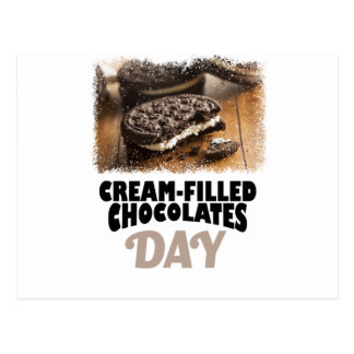 14th February - Cream-Filled Chocolates Day Postcard