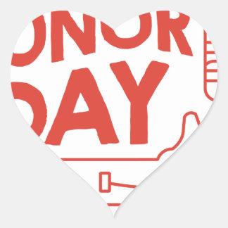 14th February - Donor Day - Appreciation Day Heart Sticker