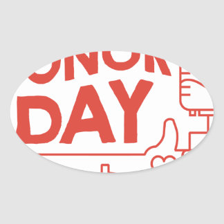 14th February - Donor Day - Appreciation Day Oval Sticker