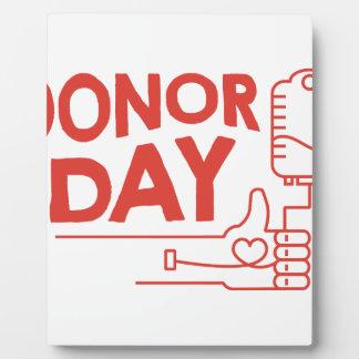 14th February - Donor Day - Appreciation Day Plaque