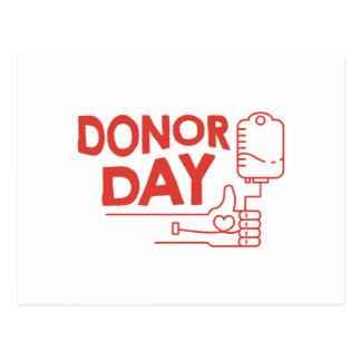 14th February - Donor Day - Appreciation Day Postcard