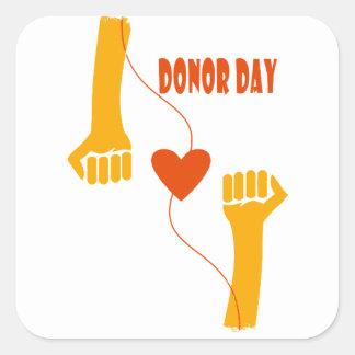 14th February - Donor Day - Appreciation Day Square Sticker
