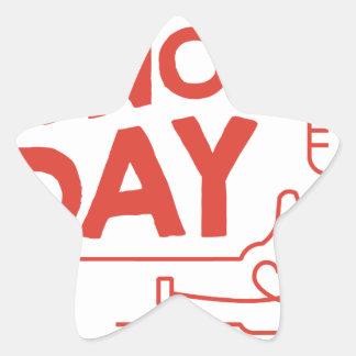 14th February - Donor Day - Appreciation Day Star Sticker