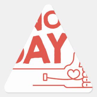 14th February - Donor Day - Appreciation Day Triangle Sticker