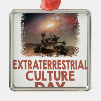 14th February - Extraterrestrial Culture Day Metal Ornament