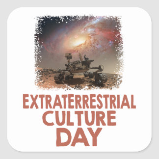 14th February - Extraterrestrial Culture Day Square Sticker