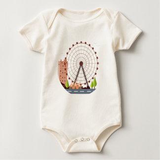 14th February - Ferris Wheel Day Baby Bodysuit