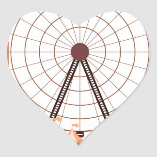 14th February - Ferris Wheel Day Heart Sticker