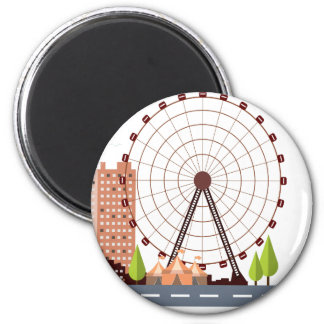 14th February - Ferris Wheel Day Magnet