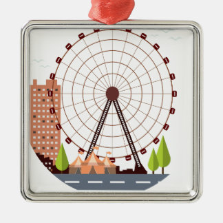 14th February - Ferris Wheel Day Metal Ornament