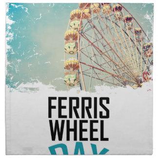 14th February - Ferris Wheel Day Napkin