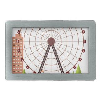 14th February - Ferris Wheel Day Rectangular Belt Buckles