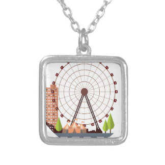 14th February - Ferris Wheel Day Silver Plated Necklace