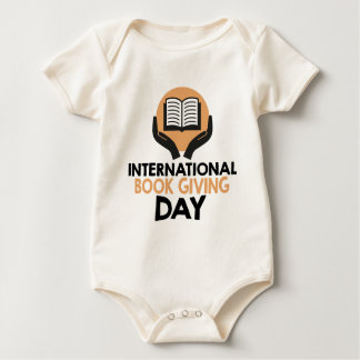 14th February - International Book Giving Day Baby Bodysuit