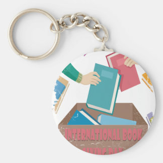 14th February - International Book Giving Day Basic Round Button Keychain