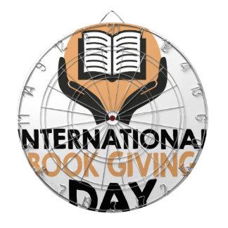 14th February - International Book Giving Day Dartboard