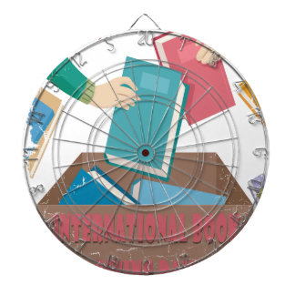 14th February - International Book Giving Day Dartboard